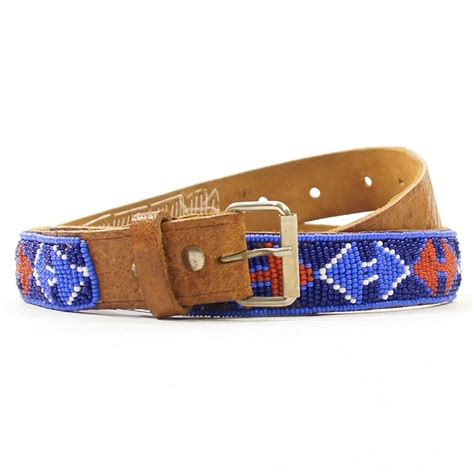 leather beaded belts beaded american leather belt 1970 s by