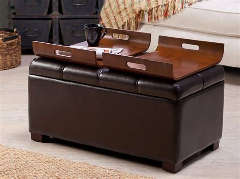 storage ottoman coffee table with trays ottoman coffee table tray design images photos pictures
