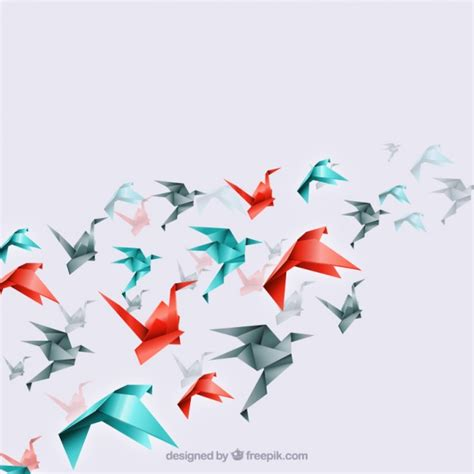 origami birds origami background vectors photos and psd files free