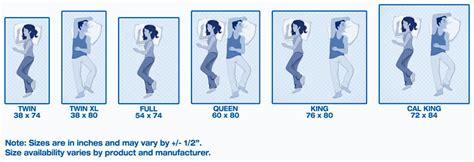 xl bed length mattress size chart and mattress dimensions