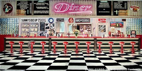 Nautical Wall Murals 50 s diner interior backdrops fantastic australia