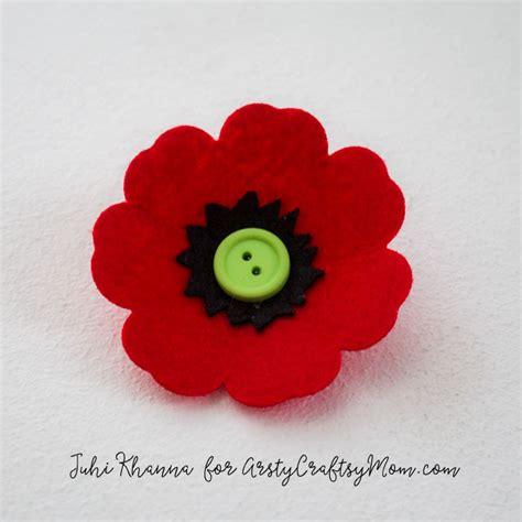 poppy crafts for flowers poppy felt craft artsy craftsy