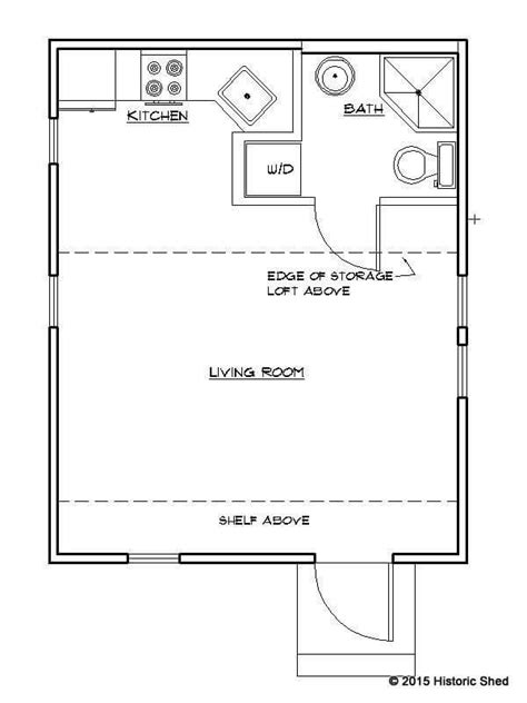 tiny cottage floor plans historic shed tiny cottage floor plan 320 sq ft 16 x 20
