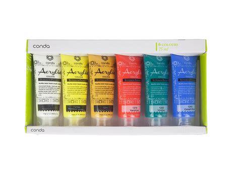 acrylic paint water resistant hysung 6 colors 75ml acrylic paints colour set water