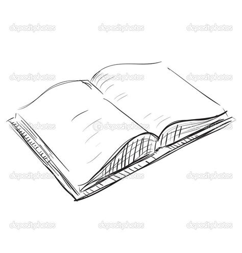 simple picture books drawings of books sketch open book icon stock vector