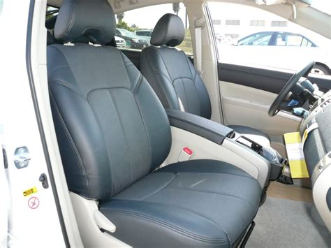 prius leather seat covers clazzio covers 2004 2011 toyota prius hybrid leather seat covers set