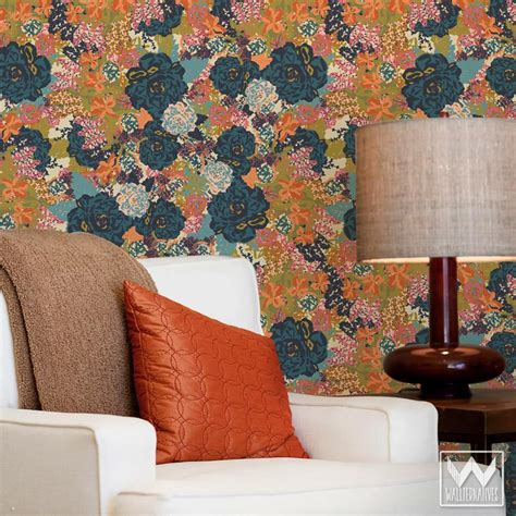 floral removable wallpaper eastern lattice moroccan removable wallpaper peel and