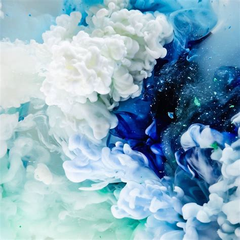 acrylic painting underwater aesthetic colored abstract ink explosions fubiz media
