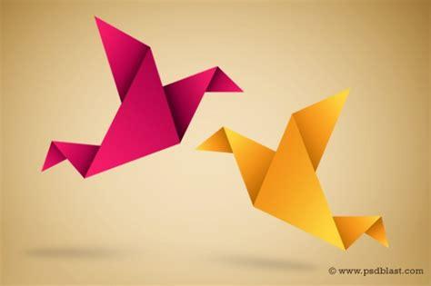 origami buy origami oiseaux illustration avec pli de papier