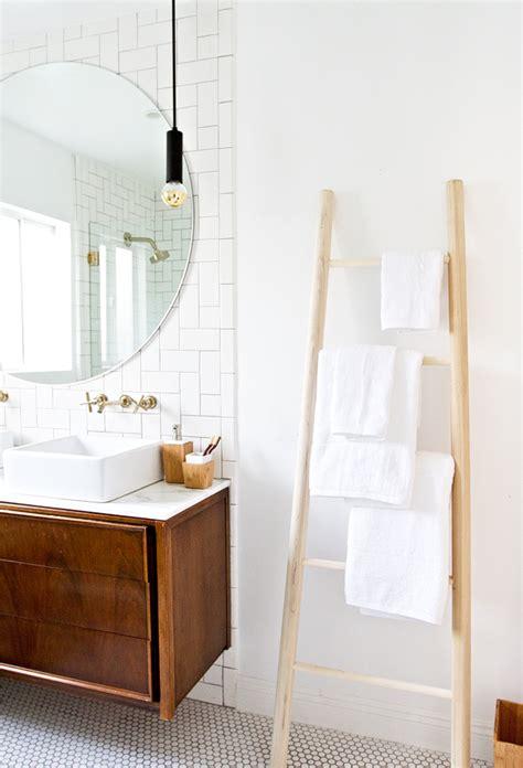 sarah sherman samuel bathroom refresh amp diy towel ladder