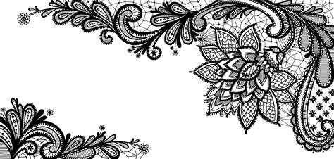 black lace ornament png clipart picture gallery