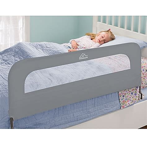 bed railings for bed homesafe folding bed rail in grey bed bath