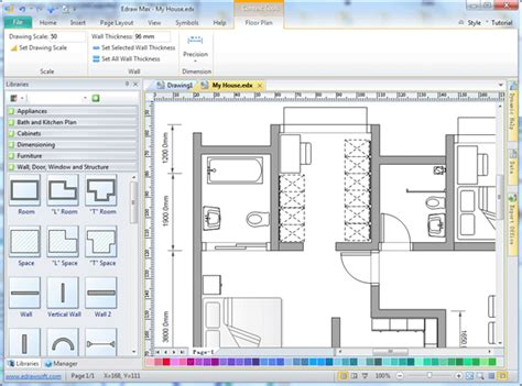 home design drafting software easy drafting software edraw