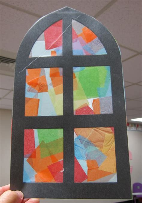 paper stained glass window craft best photos of church crafts preschool church