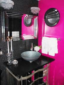black and pink bathroom accessories pink and black bathroom decorating ideas room decorating