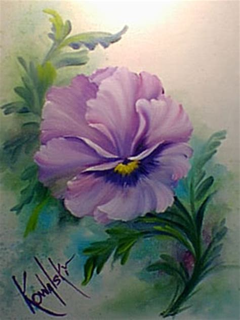 bob ross painting flowers bob ross pansy step by step painting tutorial af s 21 2