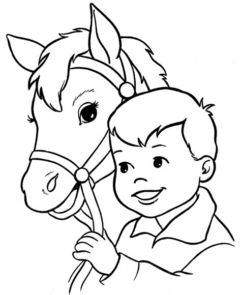 free coloring pages of horses head