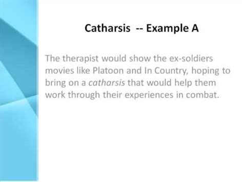 what does in catharsis definition what does catharsis