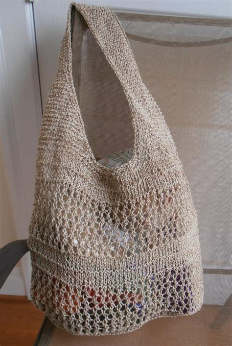 knit bag pattern tote a knitted bag to the farmers market this summer