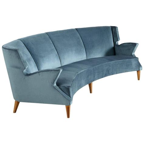 curved sofa for sale large italian four seat curved sofa for sale at 1stdibs