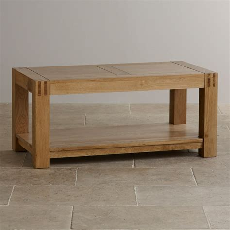 alto solid oak coffee table living room furniture