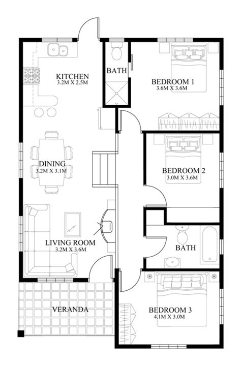 house floor plans and designs small house design 2014005 eplans