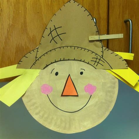 scarecrow paper plate craft paper plate scarecrow paper plate