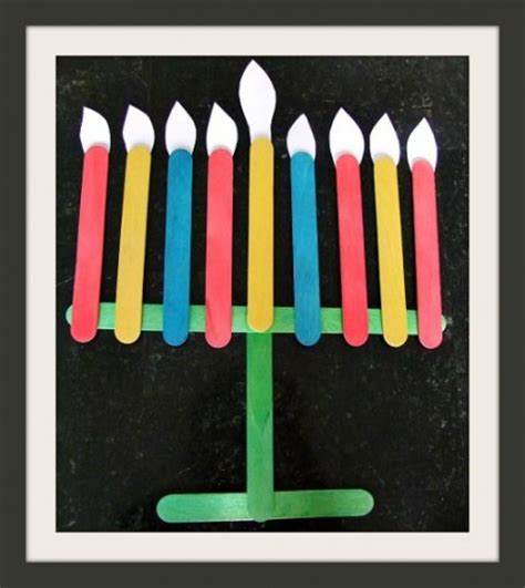 menorah craft projects up of hanukkah crafts for