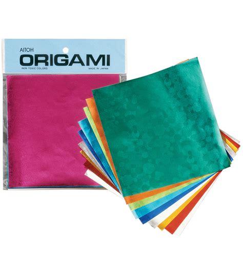 origami foil paper aitoh embssed foil origami paper 20 pkg jo