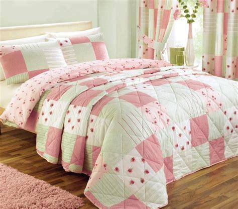 bed quilts pink patchwork bedding duvet quilt cover bedspread or