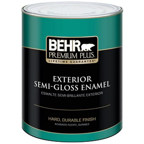 acrylic paint vs enamel behr premium plus 1 qt ultra white semi gloss enamel
