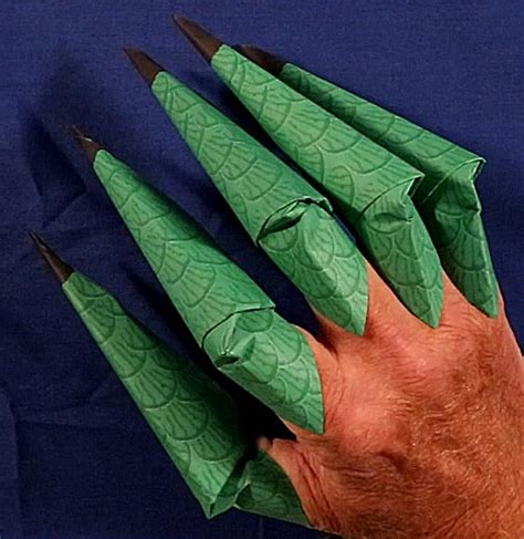 origami claws printable origami claws