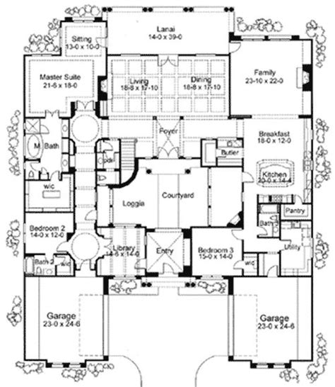 house plans courtyard plan 16826wg exciting courtyard mediterranean home plan house plans the courtyard and house