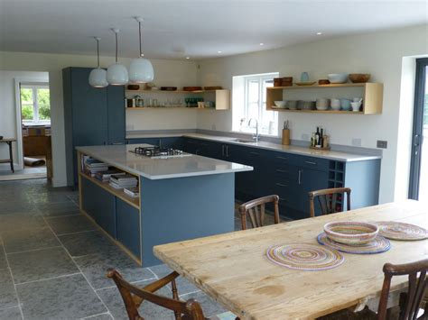 kitchen island worktops uk slate gray and oak bespoke kitchen by henderson furniture brighton uk