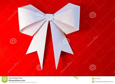 how to make ribbon origami origami bow and ribbon stock image image of events