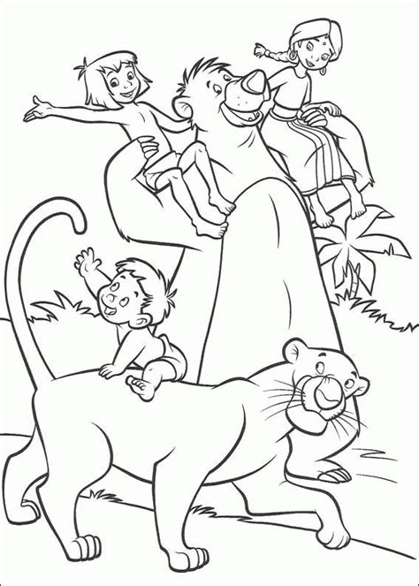 jungle book pictures to colour jungle book 2 coloring pages coloringpagesabc
