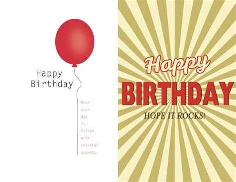 make your own happy birthday card birthday card template lilbibby
