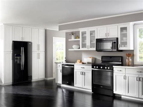 black kitchen cabinets with black appliances kitchen white cabinets black appliances the interior