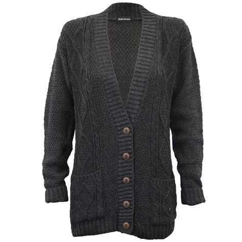 womens chunky knit cardigan cardigans womens knitted jumper cable jacquard