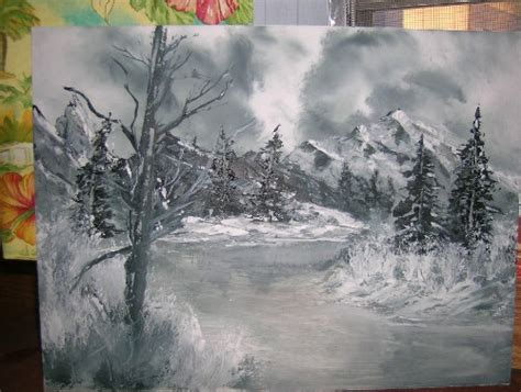 bob ross painting black and white are bob ross brand paints necessary for the bob ross