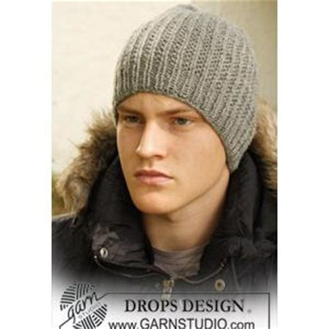 mens knit hat pattern by dropsdesign