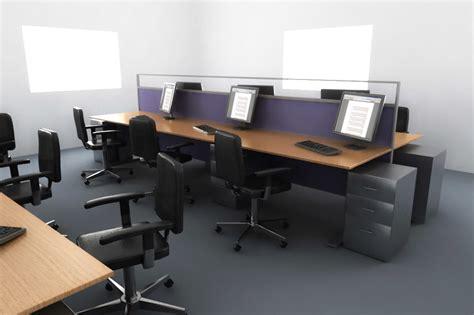 office desk setup desk office setup 3d model