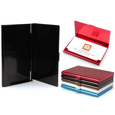 accessories for card 1pc aluminum business card holder storage box credit card