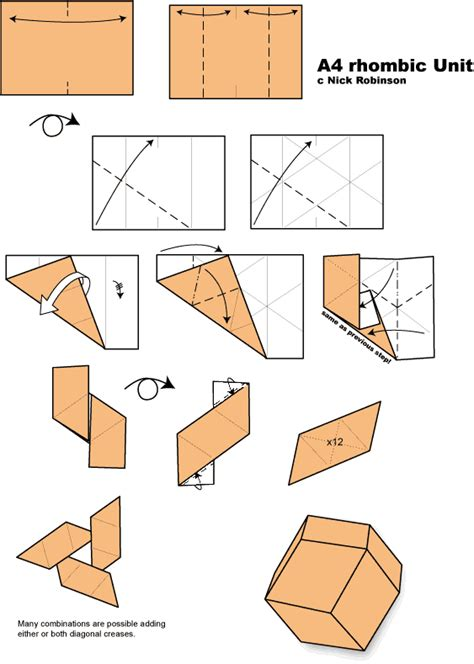 a4 paper origami unit origami diagrams unit free engine image for user