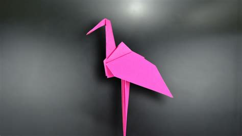 origami flamingo origami flamingo in br