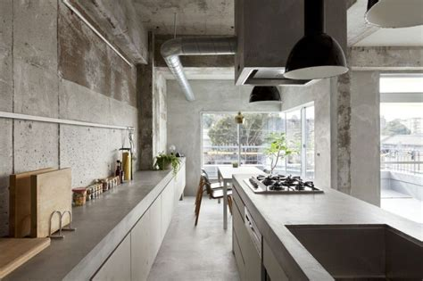 concrete kitchen design japanese inspired kitchens focused on minimalism