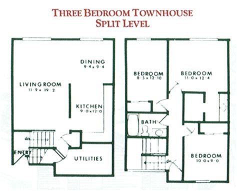 3 bedroom townhouse plans 3 bedroom townhouse for rent in penfield ny