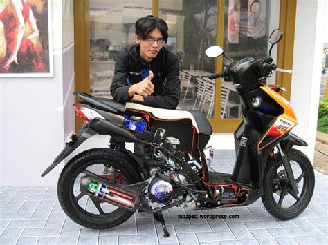 Modification Motor Beat Merah by Koleksi Ide Modif Jok Motor Beat Fi Terupdate Botol