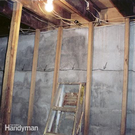 how to out a basement how to fix a cracked basement wall family handyman
