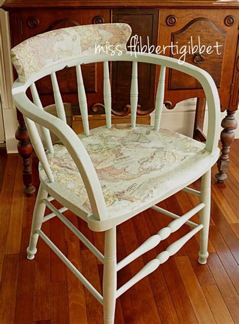 decoupage a chair decoupaged map chair miss flibbertigibbet